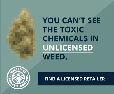 You can't see the toxic chemicals in unlicensed weed.